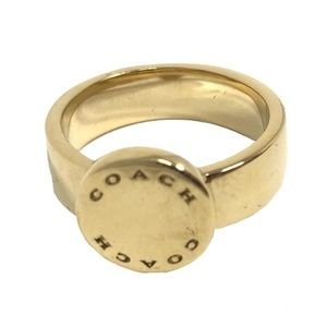 Coach F54889 Gold Plated Metal Ring Size 7